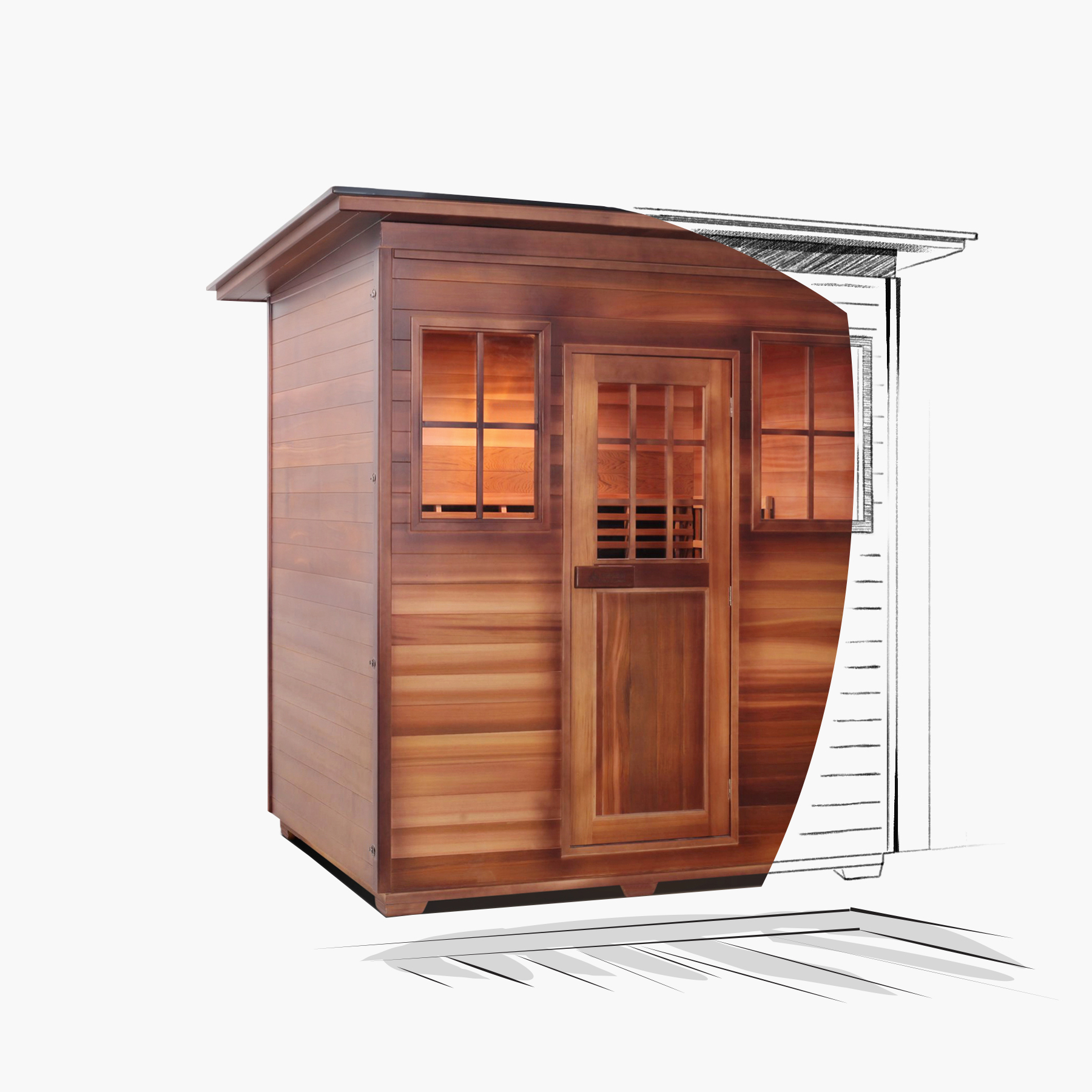 What is usually called an Infrared sauna is, in fact, an infrared therapy cabin. Why is it called a sauna? It's because the sauna environment actually helps to deliver infrared to your body and lack of clothes makes the effectiveness of the therapy session much higher.